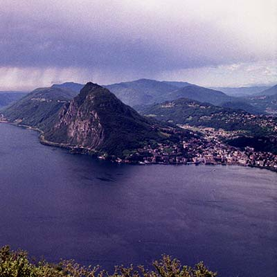 Lugano, Switzerland the rain is comming
